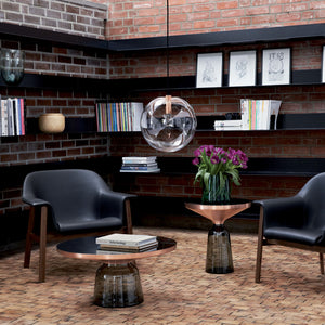 Bell Coffee Table and Side Table in Limited Edition Copper/Grey