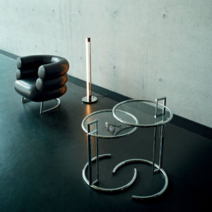 Adjustable Table shown with Bibendum lounge and Tube Light