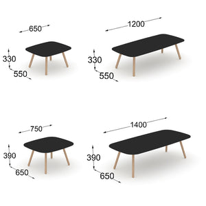 Bondo table sizes