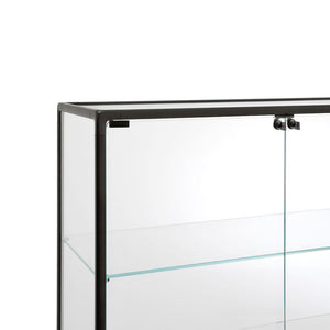 Echo Showcase - Black - Float Glass