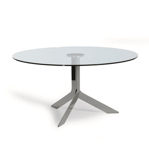 Iblea Table - Transparent Glass Top