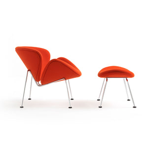 Orange Slice Chair and Foot Stool