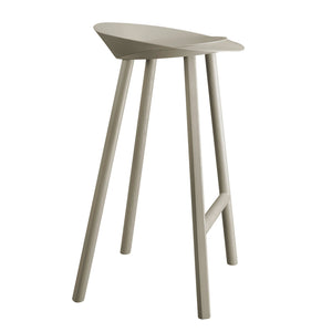 Jean Stool - Oak veneer, silk grey lacquered