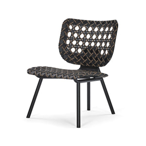 Aerias Lounge Chair - Black - Taupe