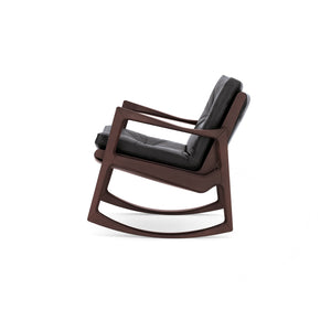 Euvira Chair - Brown Leather - Black