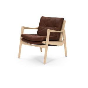 Euvira Lounge - Oak - Leather