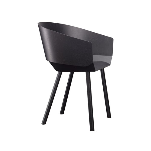 Houdini Armchair - Oak Veneer, Black Lacquered