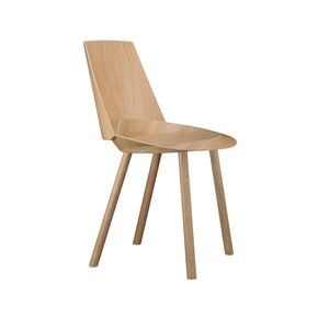 Houdini Chair - Armless - Oak Veneer, Clear Lacquered