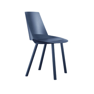 Houdini Chair - Armless - Oak Veneer, Navy Lacquered