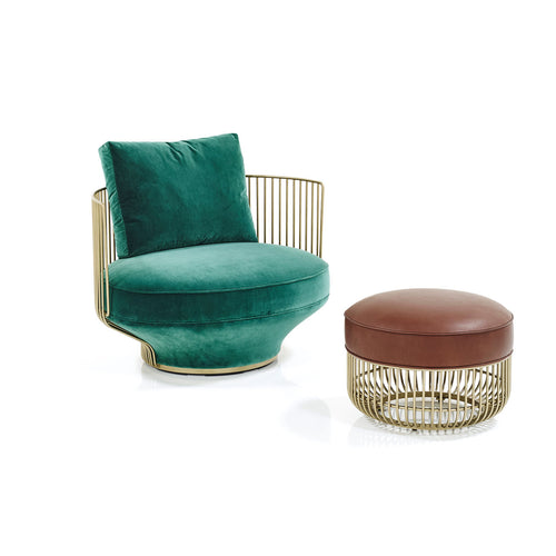 Paradise Bird Lounge Chair, Paradise Bird Stool