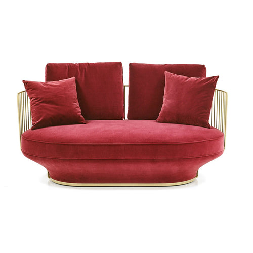 Paradise Bird Sofa - Velvet Bordeaux