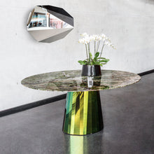 Load image into Gallery viewer, Pli dining table with marble top