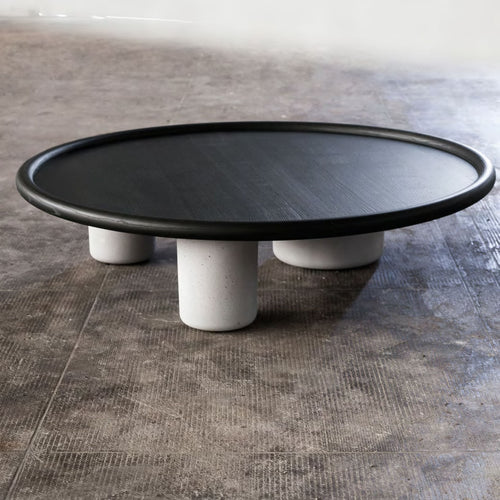 Pluto Table - Grey Burnt Effect