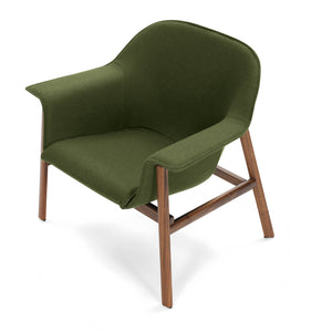 Sedan - Walnut - Fabric Green