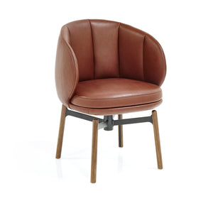 Vuelta FD Swivel Chair - Guande Autumn, Walnut Legs