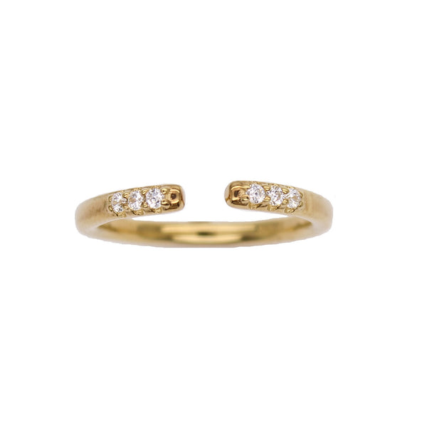Open Pave Stacking Ring - Gold