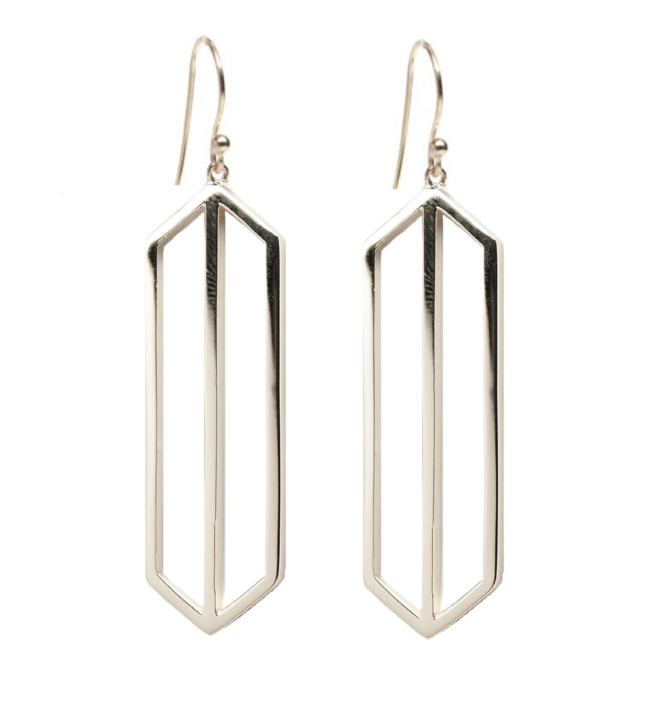 Rachael Ryen Silver Art Deco Drop Earring