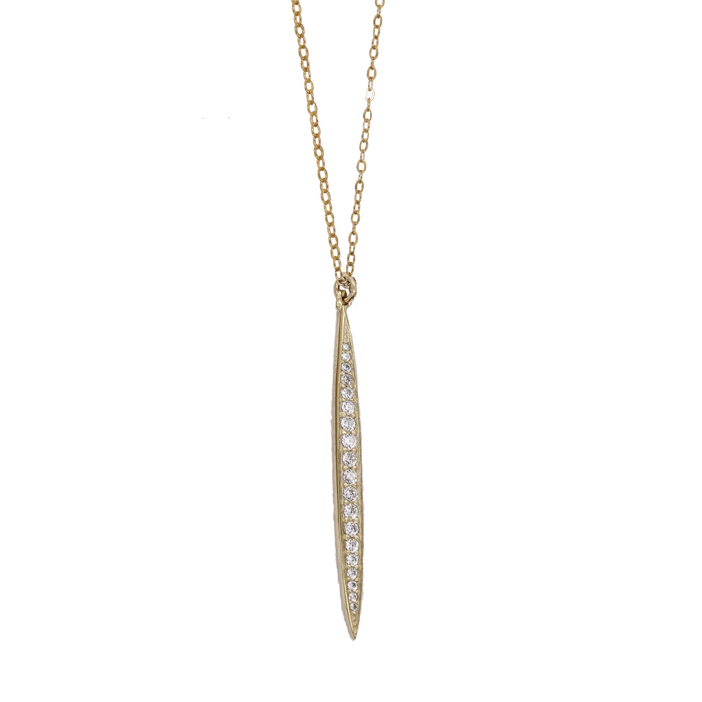 Pave Spike Necklace