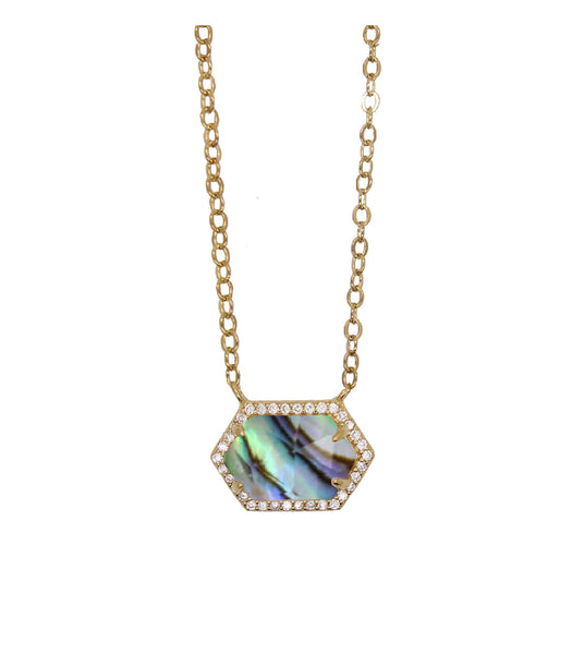 Abalone necklace - Hexagon Necklace