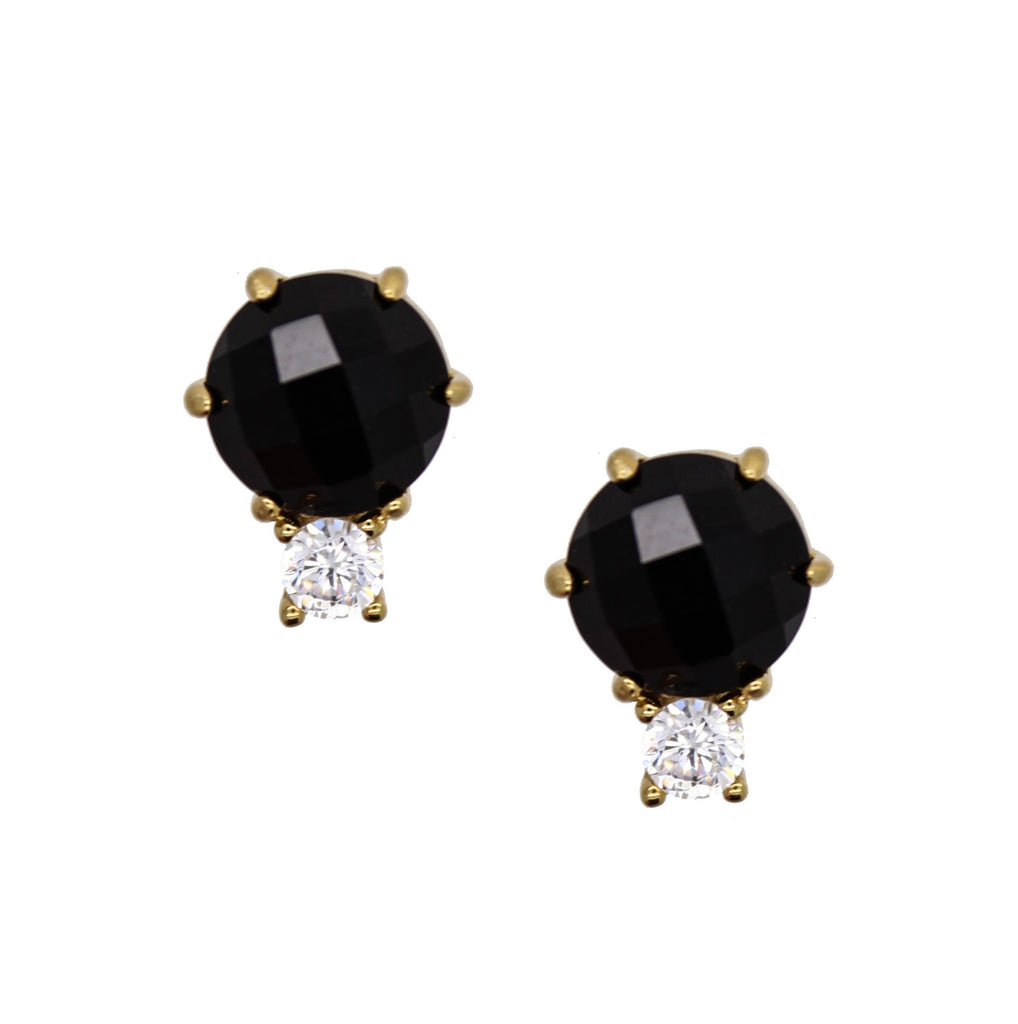Scotia Stud Black Onyx Crystal Studs by Rachael Ryen