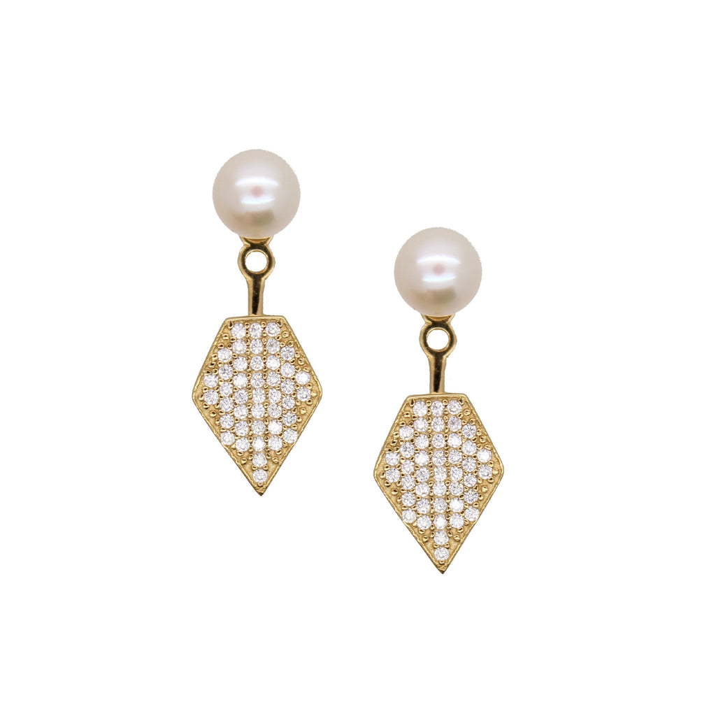 Pearl Pave Ear Jacket