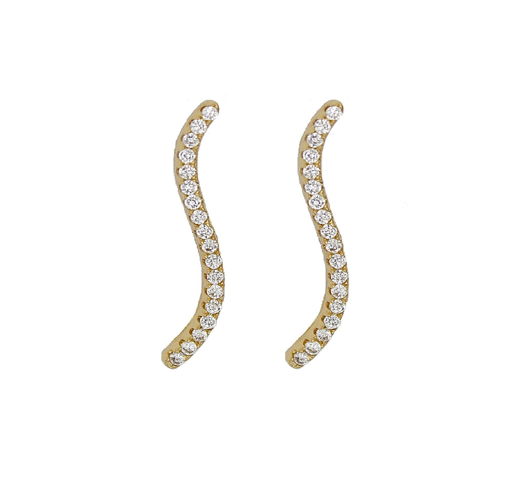 Wave Ear Pin - Gold