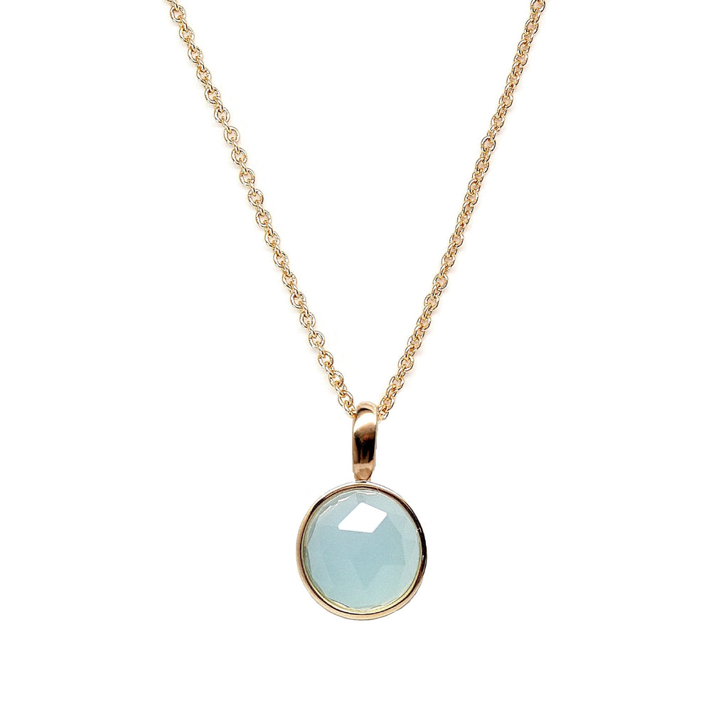Seafoam blue gemstone necklace