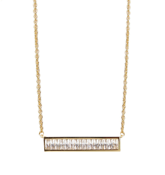 Rachael Ryen Baguette Bar Necklace