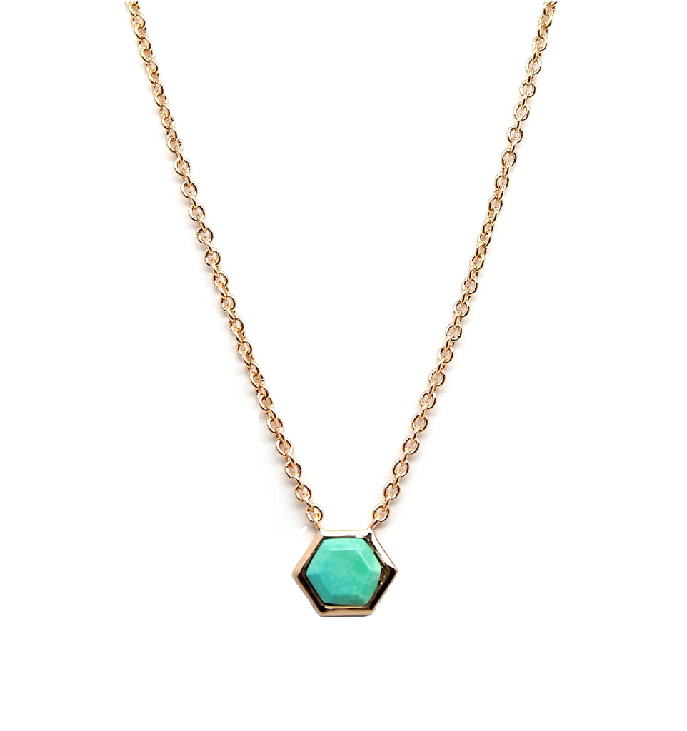 Rachael Ryen Turquoise Hexagon Necklace