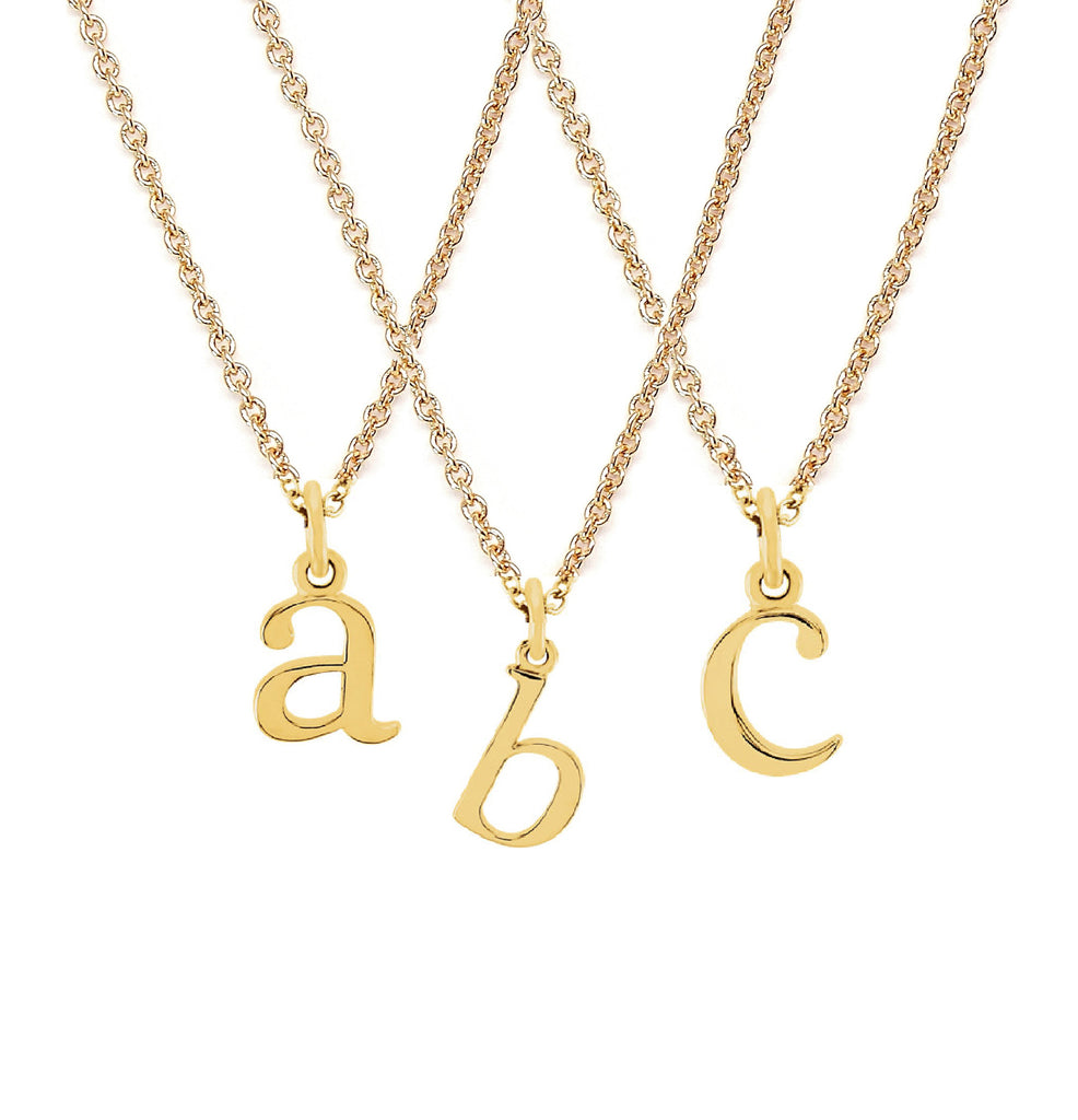 Everyday gold letter necklace - childs initial necklace