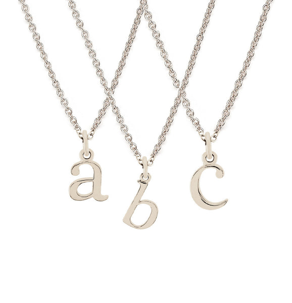 Initial necklace for women solid gold