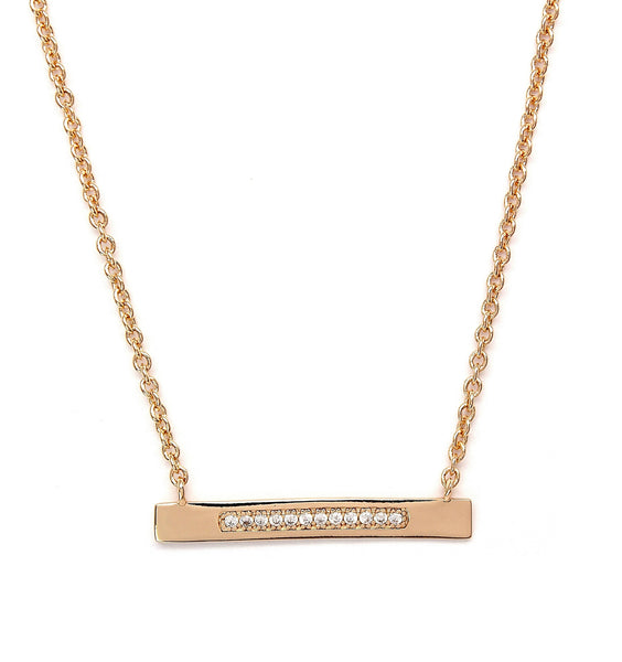Rachael Ryen Gold Bar Necklace