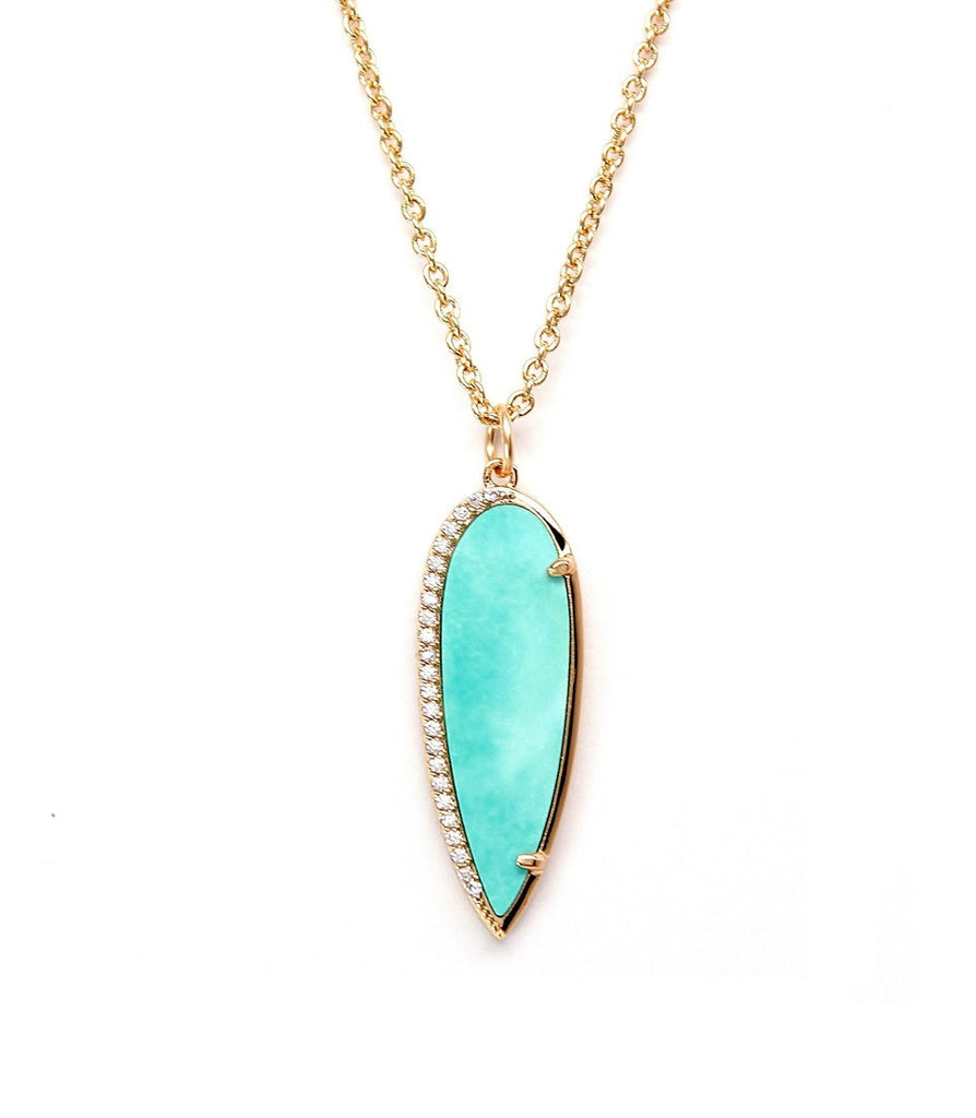 Rachael Ryen Turquoise Pave Pear Necklace