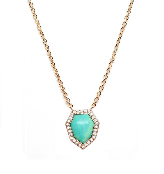 Turquoise Pave Necklace