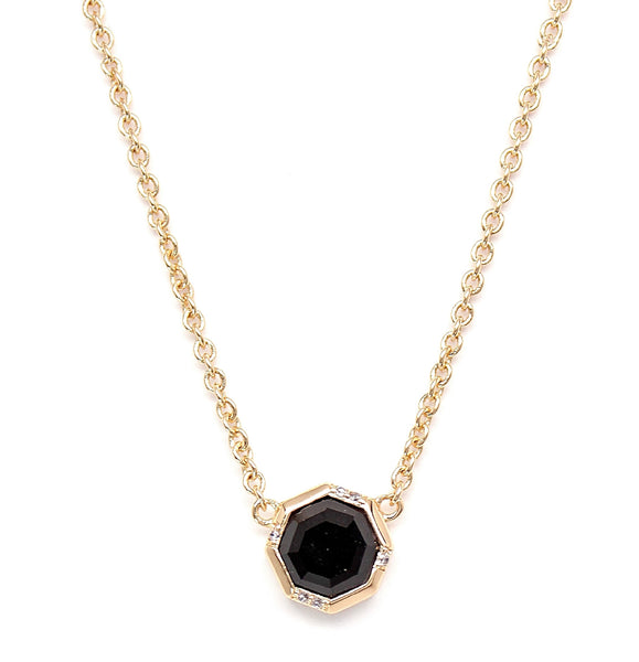 Rachael Ryen Black Onyx Octagon Necklace