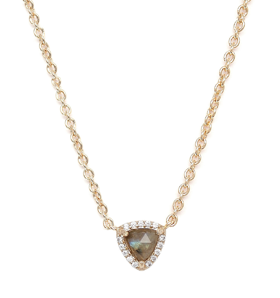 Rachael Ryen Triangle Pave Necklace - Labradorite