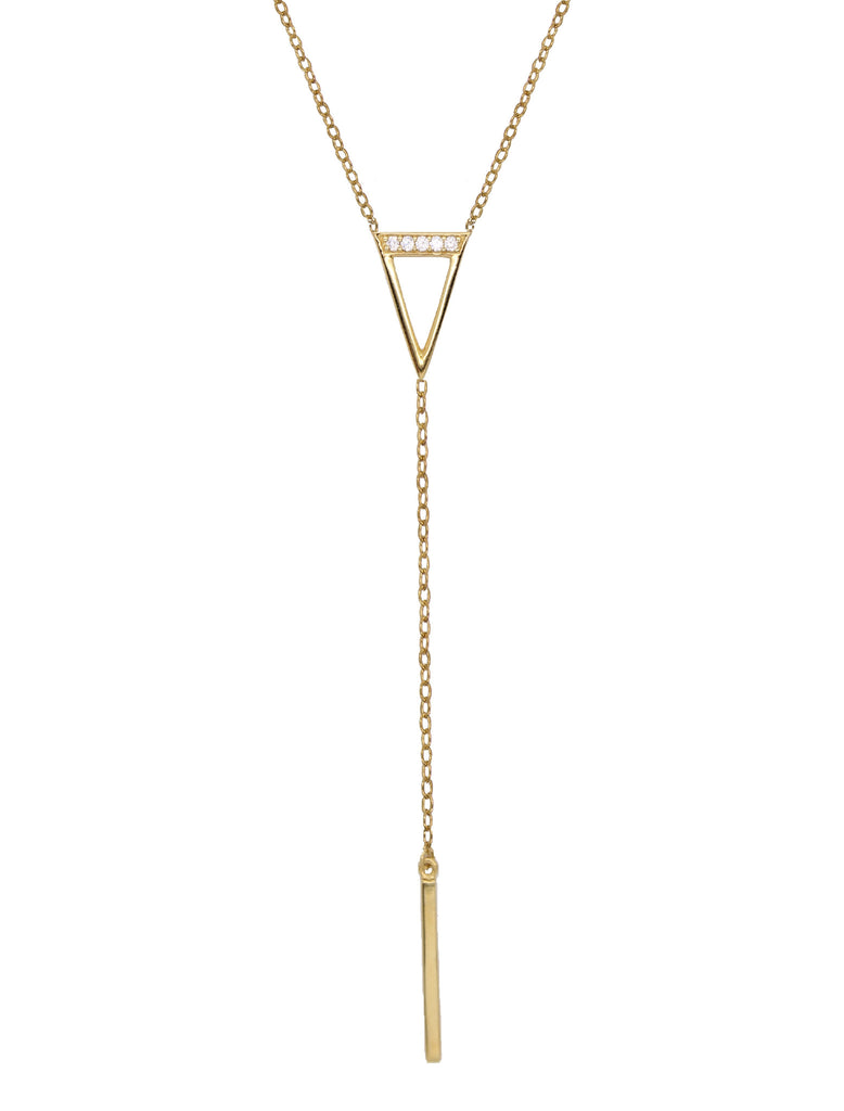 Triangle Lariat Necklace