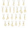 14k Yellow Gold Letter Charm Necklace - All letters available