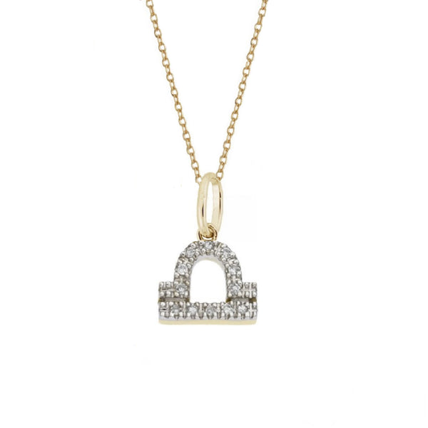 Rachael Ryen Libra Diamond Zodiac Charm Necklace