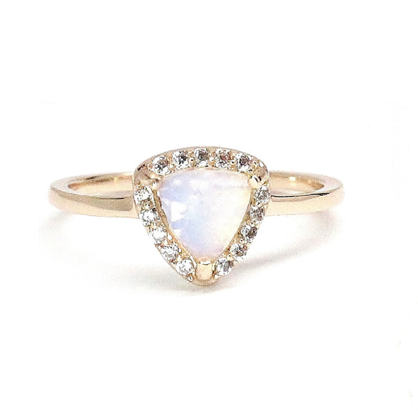 Opal Triangle Gold Ring