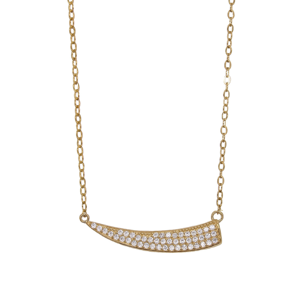 Pave Horn Necklace