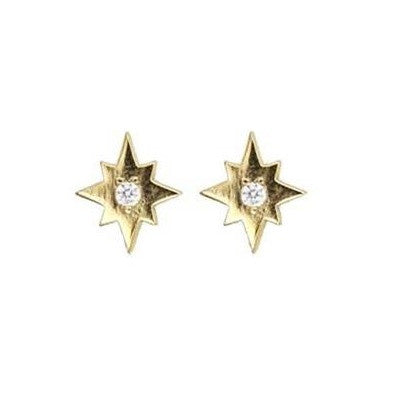 Starburst Stud Earring with Diamond