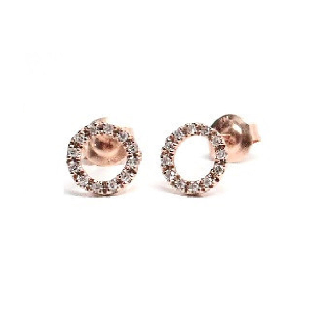 pave rose stud diamond geometric buy products gold circle open earrings