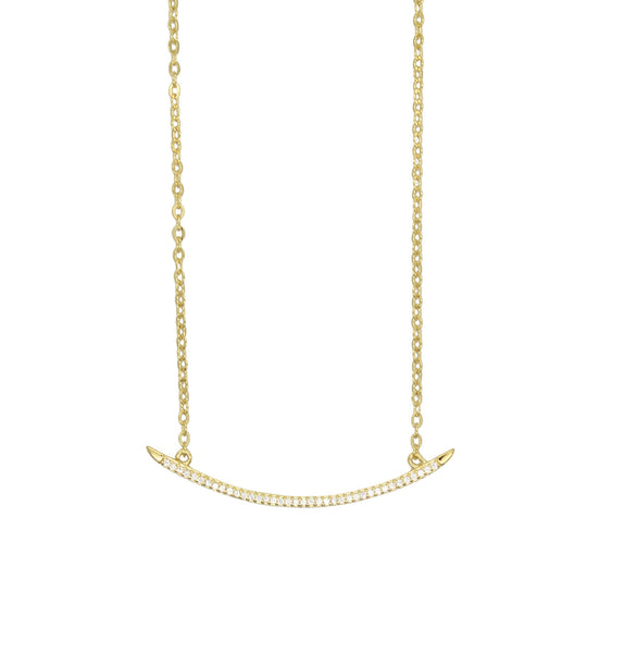 Curved Bar Necklace                   Gold