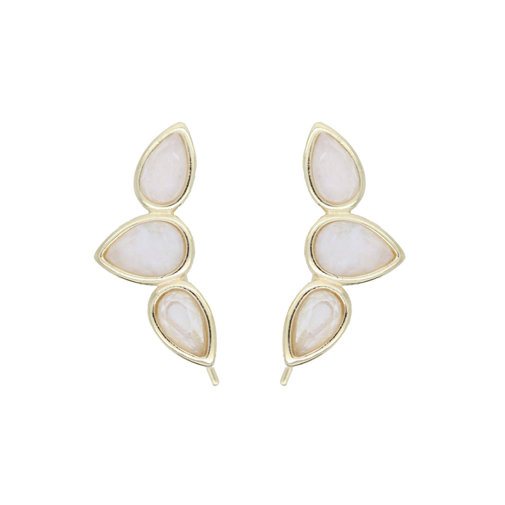 Teardrop Wing Pins - Moonstone