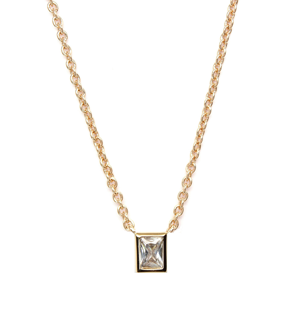 Rachael Ryen mini baguette necklace