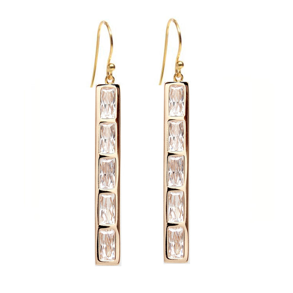 Rachael Ryen Baguette Bar Matchstick Earrings