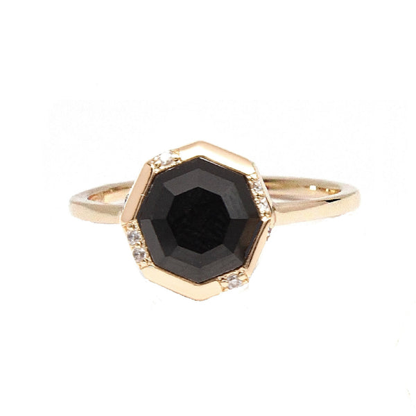 Onyx Gold Stacking Ring