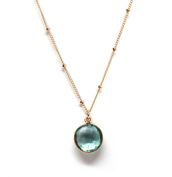 Rachael Ryen Blue Topaz Drop Necklace