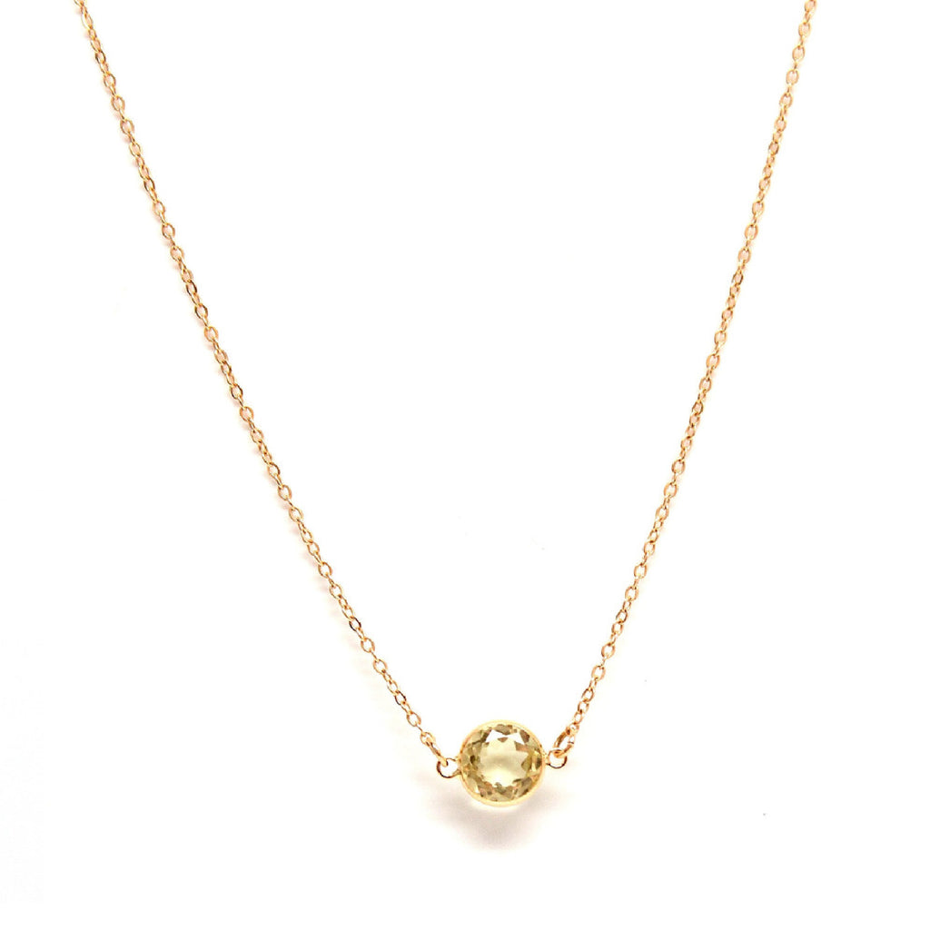 14k Yellow Gold Citrine Layering Necklace